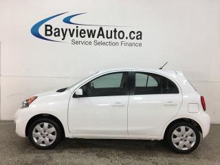 Used 2017 Nissan Micra SV - AUTO! A/C! PWR GROUP! ONLY 11,000KMS! for sale in Belleville, ON