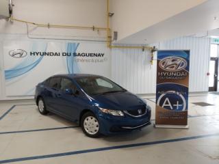 Used 2013 Honda Civic LX/MANUELLE/AC for sale in Jonquière, QC