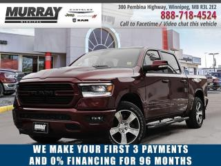 New 2020 RAM 1500 Sport Crew Cab *Leather   Sunroof   NAV* for sale in Winnipeg, MB