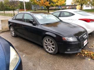 Used 2010 Audi A4 2.0T Premium (M6), AS IS. WE APPROVE ALL CREDIT for sale in Guelph, ON