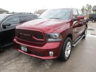 Used 2018 Dodge Ram 1500 LIKE NEW TRADESMEN EDITION 5 PASSENGER 5.7L - HEMI.. 4X4.. CREW.. SHORTY.. POWER MIRRORS.. BACK-UP CAMERA.. BLUETOOTH SYSTEM.. for sale in Bradford, ON