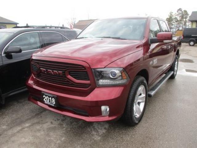 2018 Dodge Ram 1500 LIKE NEW TRADESMEN EDITION 5 PASSENGER 5.7L - HEMI.. 4X4.. CREW.. SHORTY.. POWER MIRRORS.. BACK-UP CAMERA.. BLUETOOTH SYSTEM..