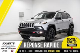Used 2017 Jeep Cherokee Trailhawk, AWD, DÉMARREUR À DISTANCE, ATTACHE -REM for sale in Joliette, QC