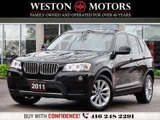 Used 2011 BMW X3 35i*XDRIVE*LEATHER*SUNROOF*NAVI!*LANE ASSIST!!* for sale in Toronto, ON