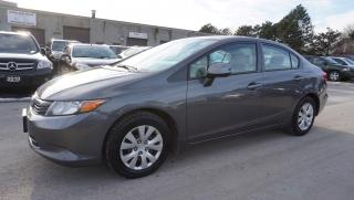Used 2012 Honda Civic LX AUTO CERTIFIED 2YR WARRANTY *FREE ACCIDENT*2ND SET TIRES* BLUETOOTH CRUISE for sale in Milton, ON