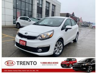 Used 2016 Kia Rio AUTO EX| REAR CAM | LOW KM|HEAT SEATS |FROM 0.9% for sale in North York, ON