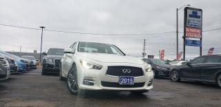 Used 2015 Infiniti Q50 Navi leather sunroof  Accident Free Clean Car Fax for sale in Brampton, ON