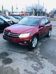 2012 Volkswagen Tiguan RARE WiLD CHERRY PEARL-CLEA CARFAX LEATHER PANO4x4