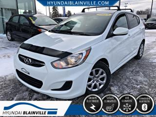 Used 2013 Hyundai Accent GL BANCS CHAUFFANTS, A/C, VITRES ÉLECTRI for sale in Blainville, QC