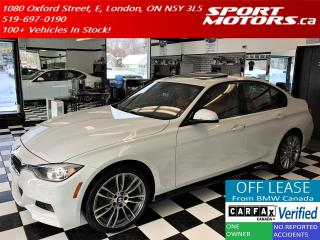 Used 2015 BMW 3 Series 328i xDrive+M PKG+Red Leather+Camera+New Tires+GPS for sale in London, ON