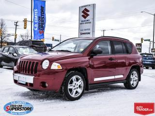 Used 2008 Jeep Compass Limited 4x4 ~Heated Leather ~Power Moonroof for sale in Barrie, ON