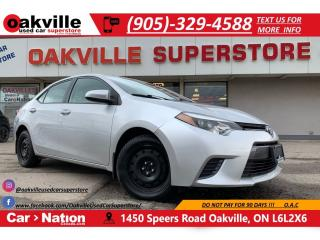 Used 2016 Toyota Corolla Auto CE | B/U CAM |HTD SEATS | BLUETOOTH for sale in Oakville, ON
