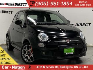 Used 2015 Fiat 500 Sport| LEATHER-TRIMMED SEATS| LOCAL TRADE| for sale in Burlington, ON