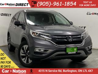 Used 2015 Honda CR-V Touring| AWD| LEATHER| SUNROOF| NAVI| for sale in Burlington, ON