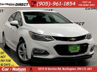 Used 2016 Chevrolet Cruze LT| SUNROOF| BACK UP CAMERA| HEATED SEATS| for sale in Burlington, ON
