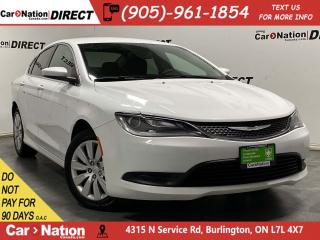Used 2015 Chrysler 200 LX| PUSH START| BLUETOOTH| LOCAL TRADE| for sale in Burlington, ON