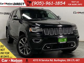Used 2017 Jeep Grand Cherokee Overland| 4X4| PANO ROOF| NAVI| for sale in Burlington, ON