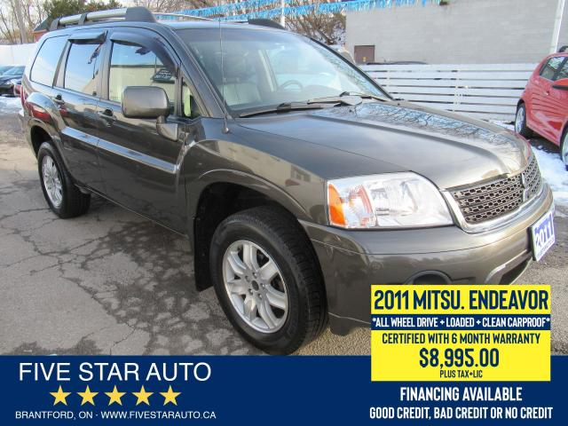 2011 Mitsubishi Endeavor AWD *Clean Carfax* Certified + 6 Month Warranty