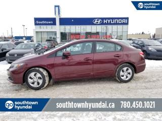 Used 2015 Honda Civic Sedan LX/LOW KMS/HEATED SEATS/BACKUP CAM for sale in Edmonton, AB