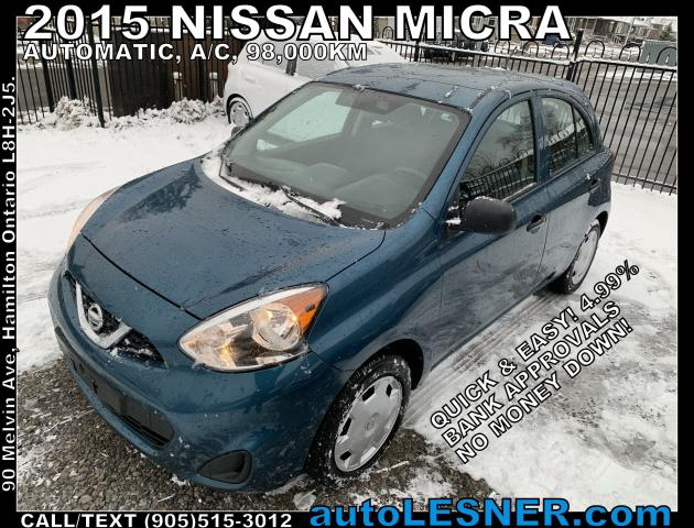 2015 Nissan Micra -ZERO DOWN, $136 for 60 months FINANCE TO OWN!
