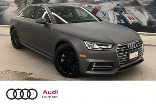 Used 2018 Audi A4 2.0T Progressiv quattro + Nav | Rear Cam | LED for sale in Whitby, ON