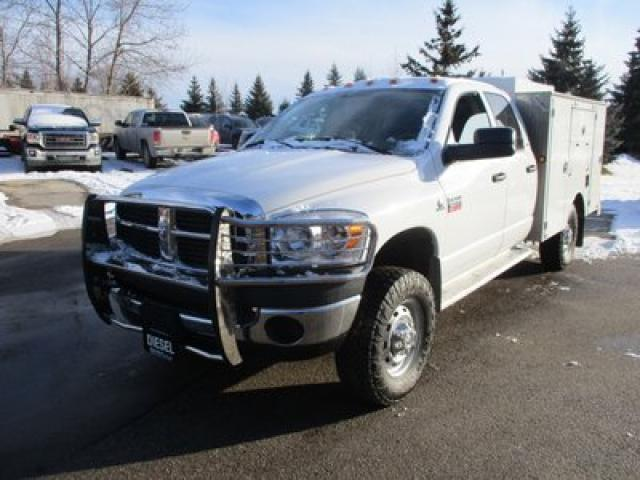 2009 Dodge Ram 3500 WORK READY SLT EDITION 6 PASSENGER 6.7L - CUMMINS.. 4X4.. QUAD-CAB.. CARGO & SHELVING BOX.. TOW SUPPORT.. KEYLESS ENTRY..