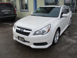Used 2014 Subaru Legacy ALL-WHEEL DRIVE LIMITED EDITION 5 PASSENGER 2.5L - SOHC.. NAVIGATION.. LEATHER.. HEATED SEATS.. POWER SUNROOF.. BACK-UP CAMERA.. BLUETOOTH.. for sale in Bradford, ON
