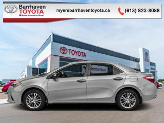 Used 2016 Toyota Corolla S  -  Heated Seats -  Bluetooth - $101 B/W for sale in Ottawa, ON