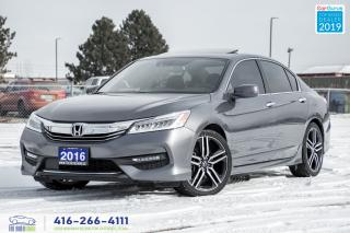Used 2016 Honda Accord Touring V6 1Owner Certified Warranty Finance Clean for sale in Bolton, ON