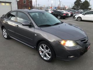 Used 2007 Mazda MAZDA3 GT ** HTD LEATH, CRUISE, AUX. IN ** for sale in St Catharines, ON
