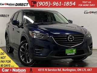 Used 2016 Mazda CX-5 GT| AWD| SUNROOF| LEATHER| NAVI| LOCAL TRADE| for sale in Burlington, ON