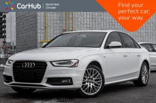 Used 2016 Audi A4 Komfort Plus Quattro|SLine|SoriusXM|Bluetooth|HeatedSeats|KeylessEntry for sale in Thornhill, ON