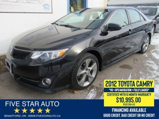 Used 2012 Toyota Camry SE *GPS + REAR CAM* Certified w/ 6 Month Warranty for sale in Brantford, ON