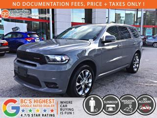 Used 2019 Dodge Durango RT AWD - No Accident / Local / DVD / Sunroof / Nav / Leather for sale in Richmond, BC