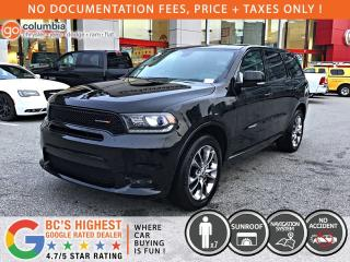 Used 2019 Dodge Durango GT AWD - No Accident / DVD / Sunroof / Nav / Leather for sale in Richmond, BC