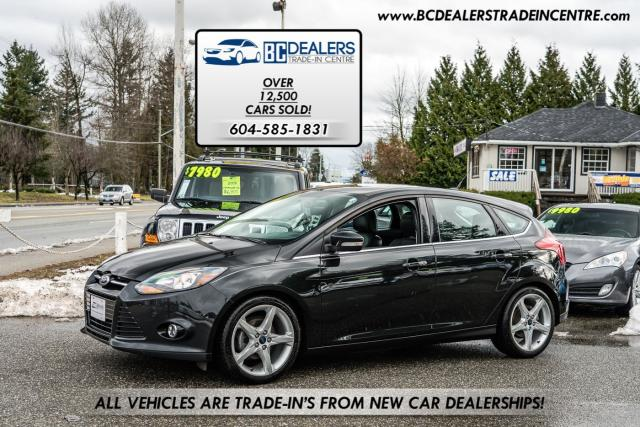 2014 Ford Focus Titanium Hatchback, Sunroof, Leather, AutoPark!