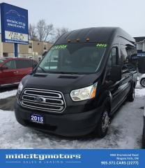 Used 2015 Ford Transit Passenger 350 XLT HD 14-Passengers/ High Roof for sale in Niagara Falls, ON