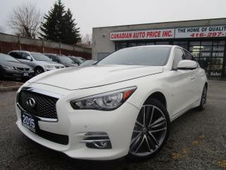Used 2015 Infiniti Q50 LIMITED-AWD-NAVI-LTHER-CAM-ROOF-BOSS-BTOOTH-ALLOY for sale in Scarborough, ON