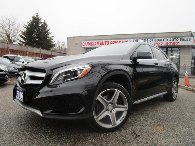 2016 Mercedes-Benz GLA 250-4MATIC-NAVI-PANO-ROOF-AMG-CAM-LTHER-HTD-ALLOY-