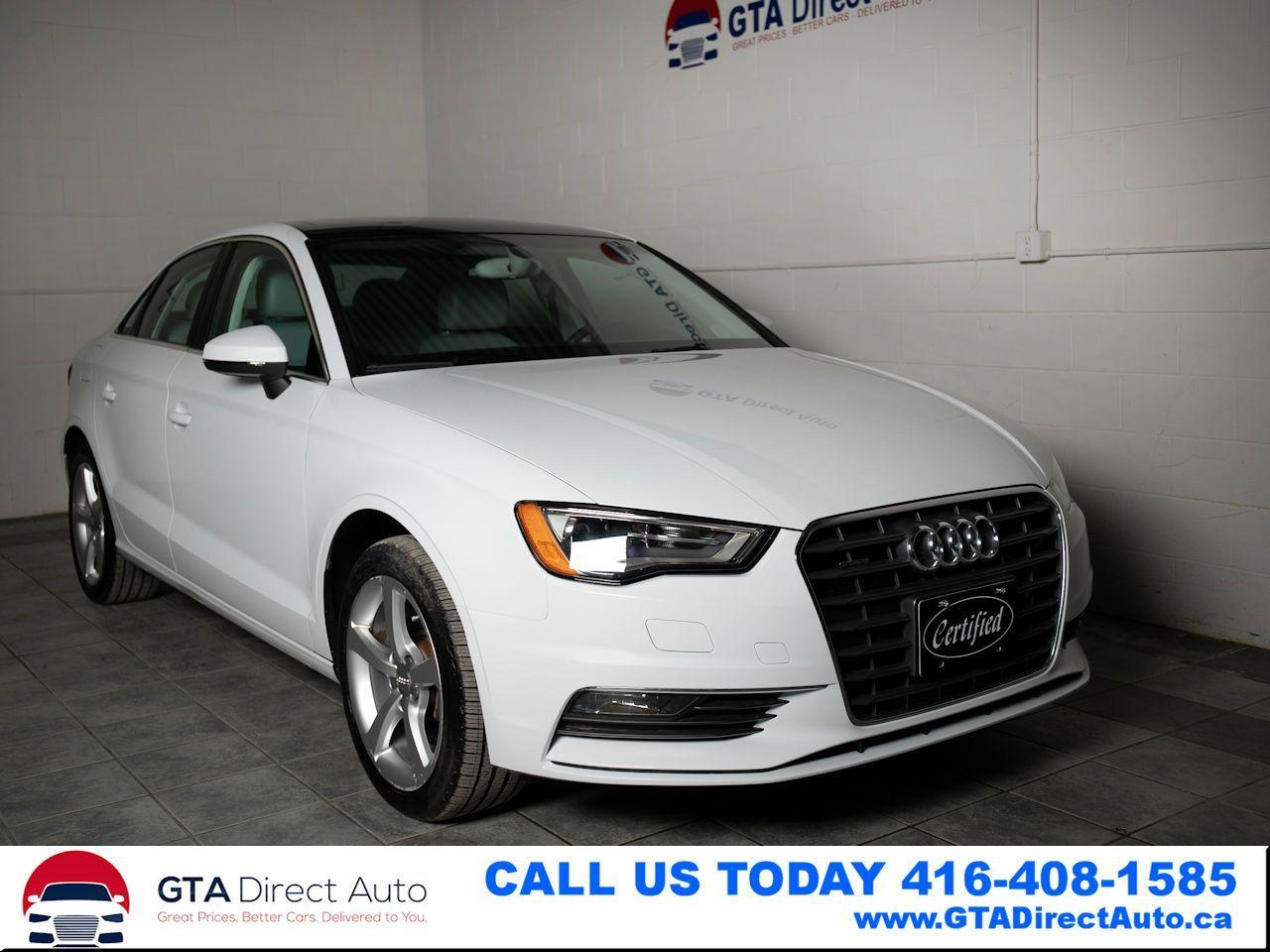 2015 Audi A3 2.0T Quattro AWD Sunroof Leather Heated Certified