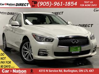 Used 2016 Infiniti Q50 2.0t| AWD| SUNROOF| PARKING SENSORS| NAVI| for sale in Burlington, ON