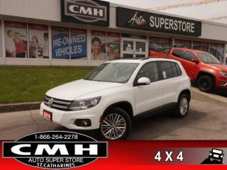 Used 2016 Volkswagen Tiguan Comfortline  AWD ROOF CAM NAV for sale in St. Catharines, ON