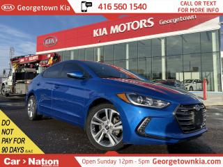 Used 2018 Hyundai Elantra GLS |SAFETY ASSIST|LEATHER|ROOF|CAM|ANDROID AUTO for sale in Georgetown, ON