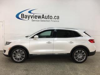 Used 2016 Lincoln MKX Reserve - AWD! HTD LEATHER! NAV! PANOROOF! + MORE! for sale in Belleville, ON