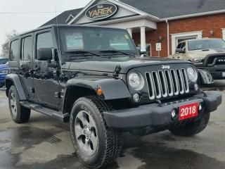 Used 2018 Jeep Wrangler Unlimited Sahara 4x4 Hardtop, Heated Seats, NAV, Bluetooth, Remote Start for sale in Paris, ON
