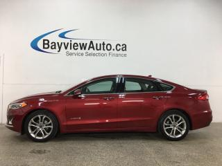 Used 2019 Ford Fusion Hybrid Titanium - HTD/COOLED LTHR! SUNROOF! NAV! SYNC! 14,000KMS! + MORE! for sale in Belleville, ON