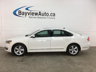 Used 2015 Volkswagen Passat 2.0 TDI Comfortline - AUTO! ALLOYS! HTD LEATHER! SUNROOF! for sale in Belleville, ON