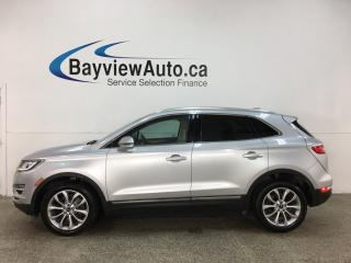 Used 2016 Lincoln MKC Select - INTELLIGENT AWD! NAV! HTD LEATHER! ALLOYS! + MORE! for sale in Belleville, ON