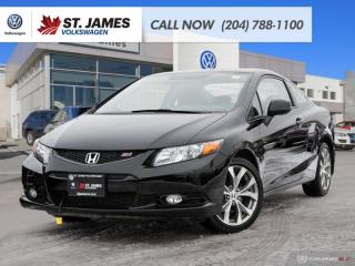 Used 2012 Honda Civic Cpe Si ALLOY RIMS, BLUETOOTH, HEATED SEATS for sale in Winnipeg, MB