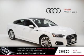 Used 2018 Audi A5 Sportback Technik w/Comfort Seating & Head Up Display *DEMO* for sale in Winnipeg, MB